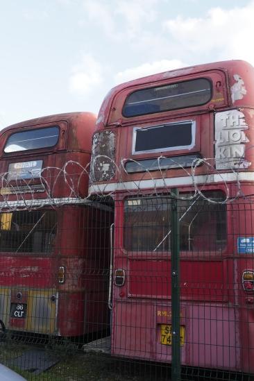 Disused buses, Brentford Dock OLYMPUS DIGITAL CAMERA